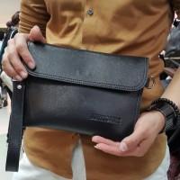 Handbag Pria mini Envelope hitam polos size 25x17