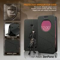 Asus Zenfone 5 ZINEQ Window Leather Flip Case Flipcase Cover Flipcover