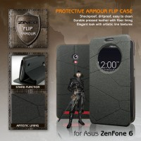 Asus Zenfone 6 Zineq Window Leather Flip Case Flipcase Cover Flipcover