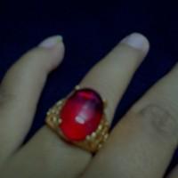 harga Cincin Batu Akik Merah Delima Tembus Pandang Tokopedia.com
