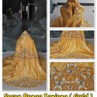 Mukena Semi Sutra Susun Bunga Tanjung Gold
