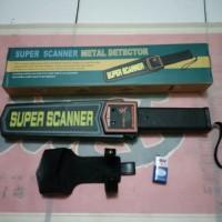 super scanner metal detector alat pengaman deteksi