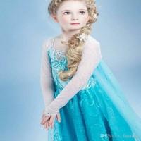 harga Dress Kostum Elsa Frozen Sayap Panjang Biru Dropship 333 Tokopedia.com