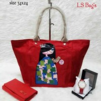 3 in 1 Longcham Womans Red