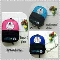 Ransel Doraemon pink, blue, electric