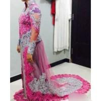 Kebaya pengantin pink silver
