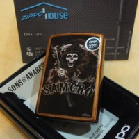 JUAL Zippo Sons of Anarchy Samcro Toffee Finish