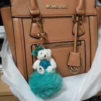 bag charm gantungan kunci tas boneka teddy bear blink bling glitter