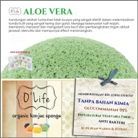 Jual Konjac Sponge Organic O'Life ALOE VERA / Pembersih Pori  (KSHB10) Murah