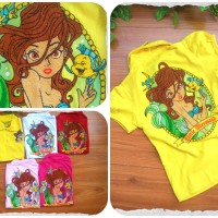 Lovely Girl polo Shirt Little Mermaid Size 3-6 thn  (G625)