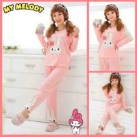 harga Baju Tidur Setelan Lengan Panjang - Piyama Lucu - Little Rabbit Ribbon Tokopedia.com