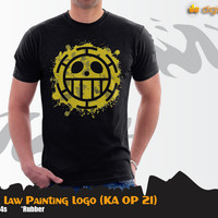 Trafalgar Law Painting Logo (Kaos Anime One Piece - KA OP 21)