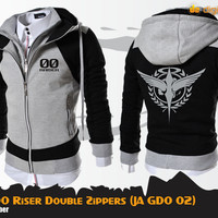 Jaket Gundam 00 Riser Celestial Being Double Zippers (JA GD0 02)