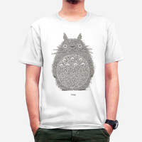 Jual kaos tshirt totoro kartun film putih big size XXXL Murah