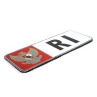 Emblem Plat Nopol RI Garuda Merah Putih Alumunium