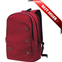 Jual Tas Ransel / Tas Laptop Bahan Canvas + Rain Cover - Catenzo ST 033 Murah