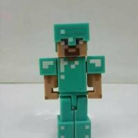 Action Figure minecraft Steve with Diamond Armor mojang original