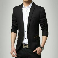 jas dan blazer black Valextra good quality