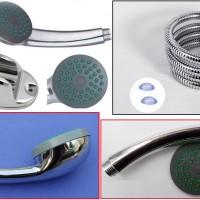 harga 3 In 1 Set - Kepala Shower Bulat, Shower Hose Stainless Steel 1,5 M Tokopedia.com