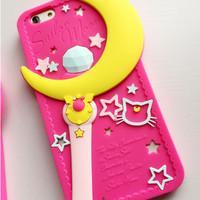 harga Casing Silikon / Soft Case iPhone 5 & 5s - Tongkat sailor Moon Tokopedia.com