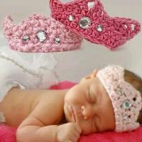 baby crown tiara rajut handmade