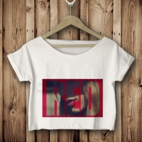 kaos tshirt croptee RED taylor swift 2 putih DTG custom