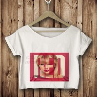 kaos tshirt croptee RED taylor swift putih DTG custom