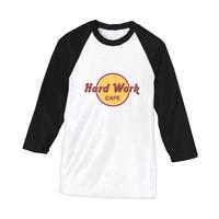 Jual kaos tshirt raglan H&R cafe hard Work Cape DTG custom Murah