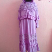 Gamis Jersey Anak Lavender 4-5 tahun