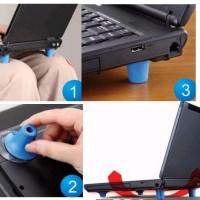 penyangga laptop notebook cool feet dudukan komputer colling pad