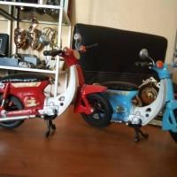 Miniatur Motor Honda Pitung Klasik Era 70'an Antik Unik Artistik