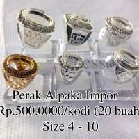Grosir Ring / Emban / Ikat Cincin Perak Alpaka Impor