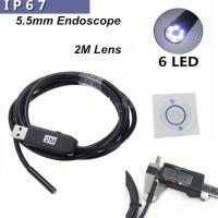 USB Cable Waterproof Microscope Endoscope Mini Camera Diameter 5.5 mm