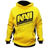 jaket sweater hoodie jumper kuning natus vincere / dota 2 terbaru