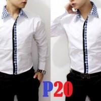 harga P20 Kemeja Korea Pria Kontemporer, Produsen Rapi Bagus Size Lengkap Tokopedia.com