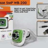 Baru Webcam Mtech M-tech 5Mp Bening Web Camera Camfrog Built In Mic