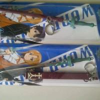 Key Chain (Gantungan Kunci) SAO Asuna Sword include sarung P=17 cm