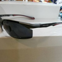 Jual kacamata police S1905 grey & red polarized lens Murah