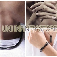 JWLB0015 Gelang/Kalung Kulit Unisex (Couple Leather Bracelet/Necklace)