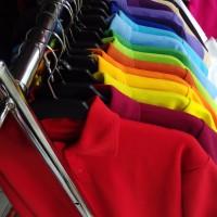 Kaos Berkerah/Polo T-Shirt Polos, Laki-laki, cowok