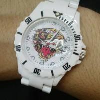 Toy Watch Ed Hardy tiger (Putih)
