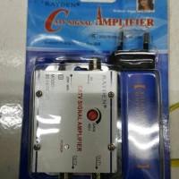 Splitter Booster cabang 2/ 2 way/ catv signal amplifier