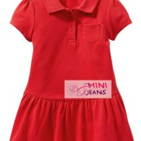 DRMJ02 - MJ Polo Dress with Red Ruffle