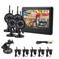 harga 4Ch CCTV Wireless Camera + 7 inch TFT LCD 2.4GHz Receiver Tokopedia.com