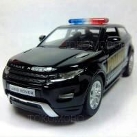 range rover evoque polisi hitam diecast hadiah mobilan fatih