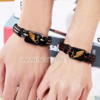 JWLB0017 Gelang Kulit Unisex (Gender Symbol Couple Leather Bracelet)