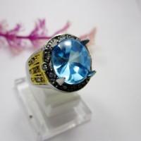 harga Cincin Titanium Batu Blue Topaz Tokopedia.com