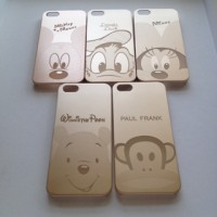 IPHONE 5 5S GOLD THIN HARD CASE CASING COVER EMAS DISNEY