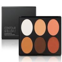 BH Cosmetics - Contour and Blush Palette - No. 2 (Medium - Dark Skin)