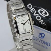 Jam Tangan Devond Original 3031 Silver White